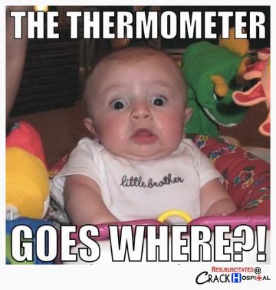 Hvor skal du stikke termometeret
