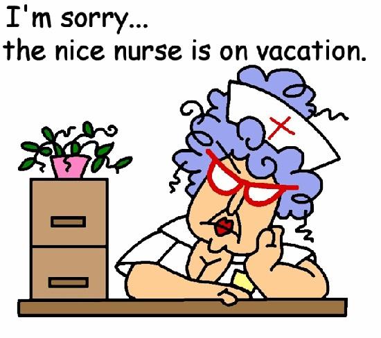 sykepleieren er på ferie