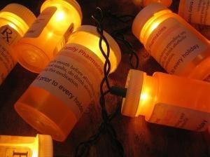 Julelys i medisinbeger
